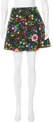 Victoria Beckham Victoria, Floral Print Mini Skirt