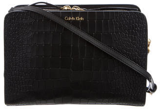 Calvin Klein Embossed Crossbody Bag $225 thestylecure.com