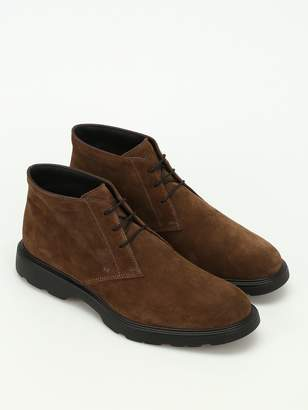 Hogan H304 New Route Suede Ankle Boots