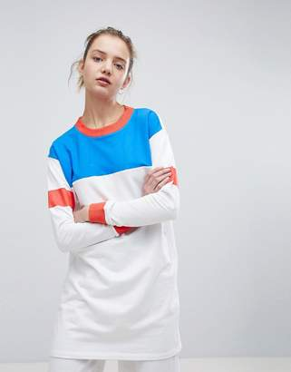 Daisy Street Oversized Sweatshirt In Colour Block