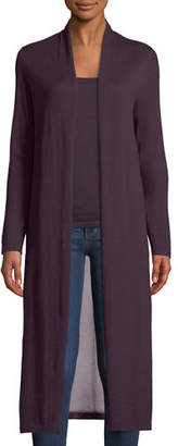 Neiman Marcus Cashmere Viscose-Back Duster Cardigan