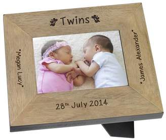 BabyFish Personalised Photo Frame For Twins