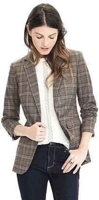 Lightweight Wool Flannel One-Button Blazer $198 thestylecure.com
