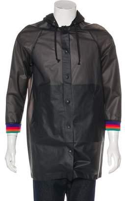 Diesel Hooded Vinyl Raincoat