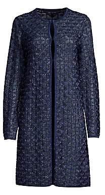 St. John Women's Diamond Lace Knit Longline Cardigan