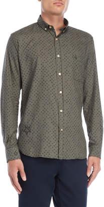 Serge Blanco Star Print Pocket Button-Down Shirt