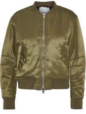 3.1 Phillip Lim Lace-Up Satin Bomber Jacket