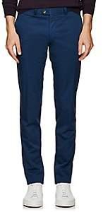 Hiltl Men's Cotton Slim Trousers-Blue Size 34