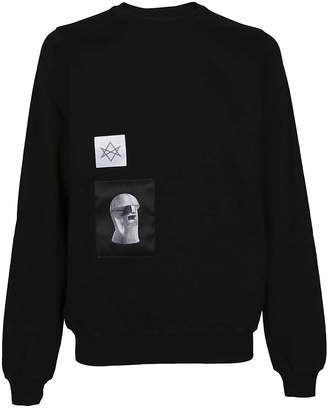 Drkshdw Rick Owens Patch Detail Sweatshirt