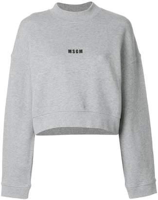 MSGM branded crop sweatshirt