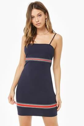 Forever 21 Striped-Trim Bodycon Dress