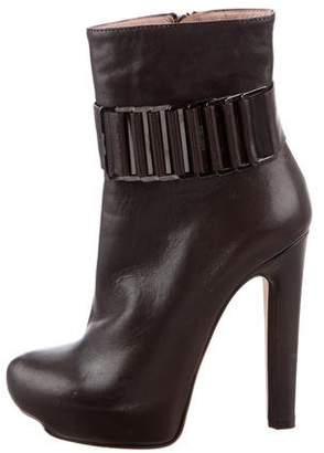 Herve Leger Platform Ankle Boots
