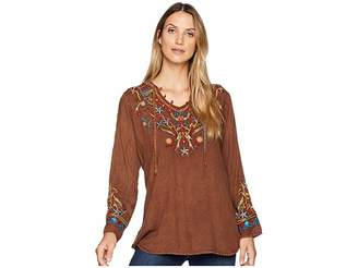 Scully Bennington Boho Embroidered Fun Blouse