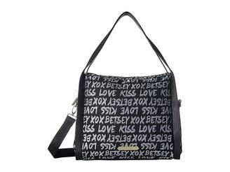 Betsey Johnson Jacquard Logo Hobo Hobo Handbags