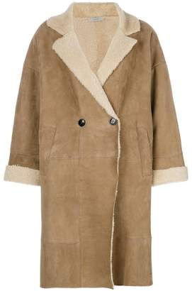 Dusan double breasted shearling coat