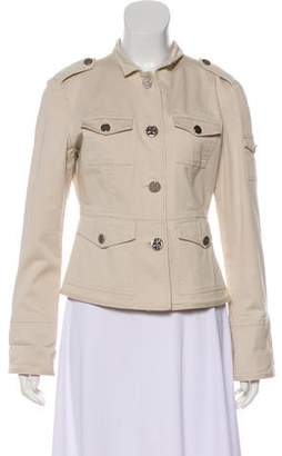 Tory Burch Collared Long Sleeve Jacket