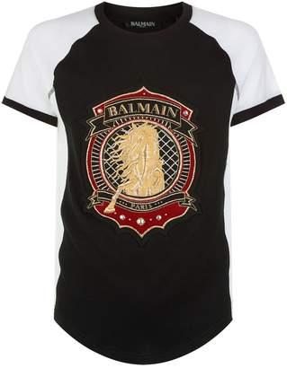 Balmain Embroidered Logo T-Shirt