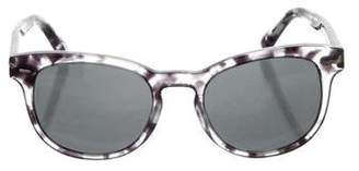 Dolce & Gabbana Patterned Keyhole Sunglasses