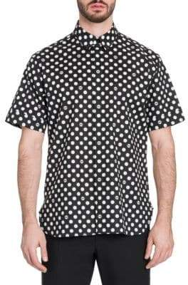 Dolce & Gabbana Short-Sleeve Polka Dot Shirt