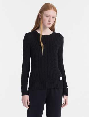 Calvin Klein pima cotton cable knit sweater