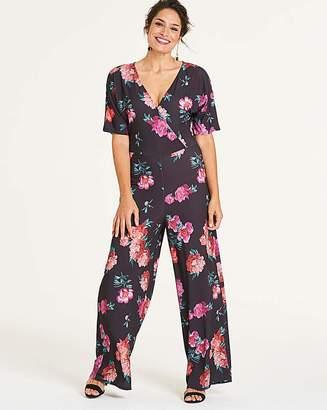 Fashion World Wide Leg Kimono Jumpsuit