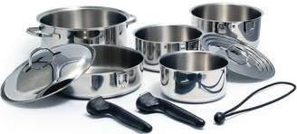 Kuuma Products Kuuma 10-Piece Stainless Steel Nesting Cookware Set - Induction Compatible - Oven Safe