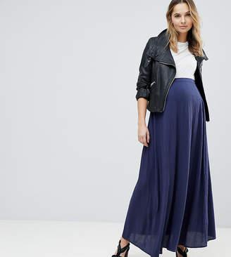 Asos DESIGN Maternity crinkle maxi skirt