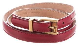 Gucci Leather Skinny Belt