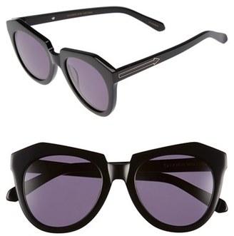 Women's Karen Walker 'Number One' 50Mm Sunglasses - Black $250 thestylecure.com