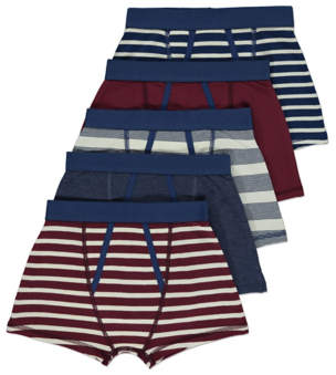 George Nautical Striped Jersey 5 Pack Trunks