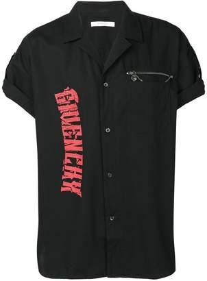 Givenchy contrast logo-print shirt