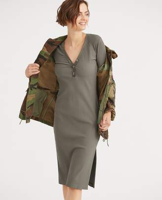 Ralph Lauren Cotton-Blend Henley Dress