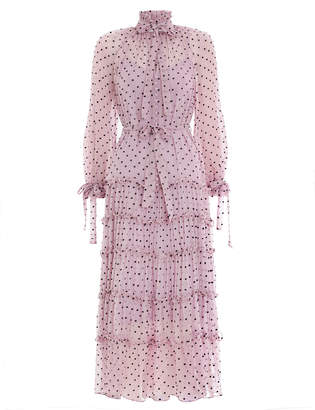 Zimmermann Ninety-Six Neck Tie Dress
