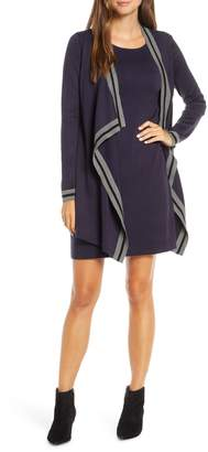 Harper Rose Mock Jacket Long Sleeve Sweater Dress
