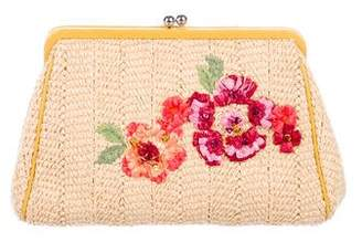 Christian Dior Floral Embroidered Clutch