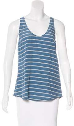 Joie Silk Stripped Sleeveless Top