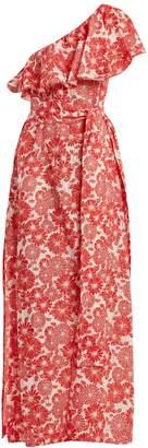 Lisa Marie Fernandez Arden floral-print off-shoulder dress