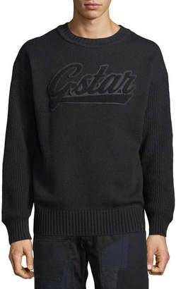 G Star G-Star Men's Logo Applique Crewneck Sweater