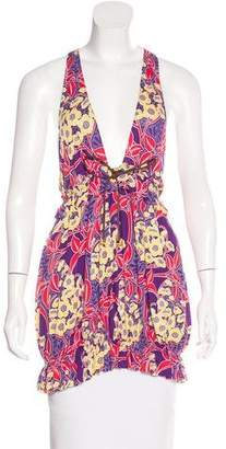 DSQUARED2 Printed Sleeveless Top w/ Tags
