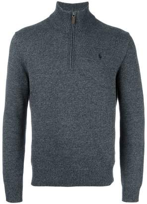 Polo Ralph Lauren ribbed zip collar jumper