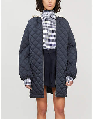 Jil Sander Giles high-rise belted wool shorts