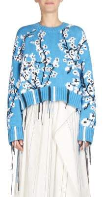 Cédric Charlier Cherry Blossom Knit Sweater