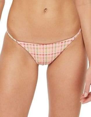 Topshop Frill Checkered Bikini Bottoms
