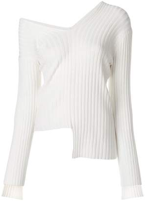 Helmut Lang asymmetric v-neck jumper