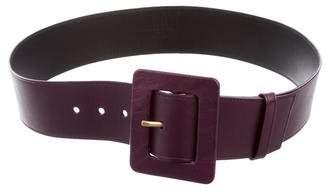 Saint Laurent Wide Leather Waist Belt