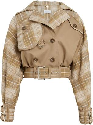 Zimmermann Sabotage Checked Cropped Jacket