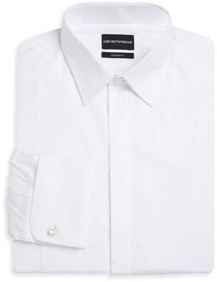 Emporio Armani Basic Solid Cotton Tuxedo Shirt
