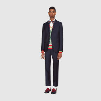 Gucci Monaco fine dots wool suit