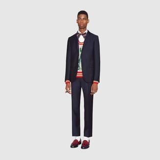 Gucci Monaco fine dots wool suit