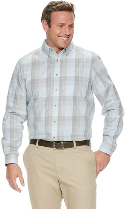 Haggar Men's Long Sleeve Weekender Space-Dye Shirt